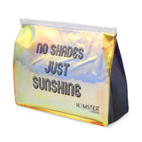 No Shades Just Sunshine Pouch Black