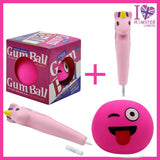 Gum Ball With Squeeze Pen Unicorn