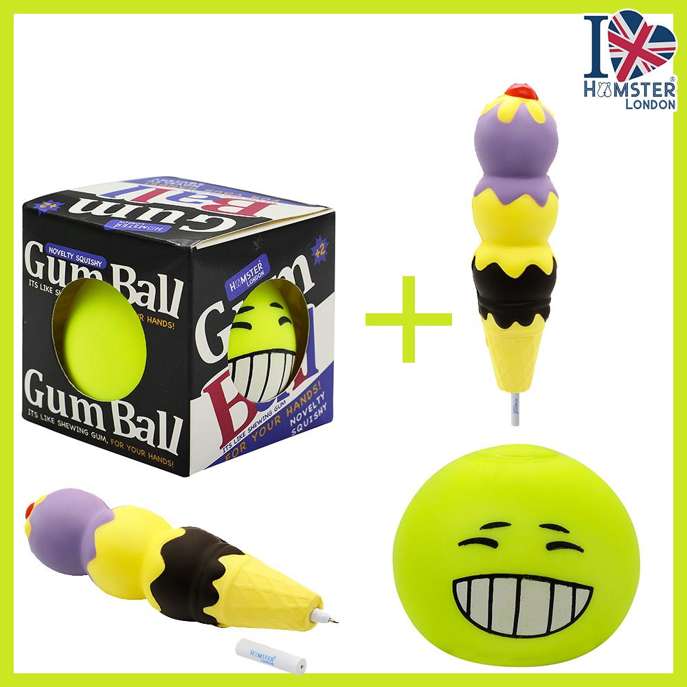 Gum Ball Neon With Squeeze Pen Ice Cream
