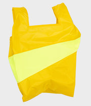 SUSAN BIJL Shopping Bag 'Recollection' Helio & Fluo Yellow