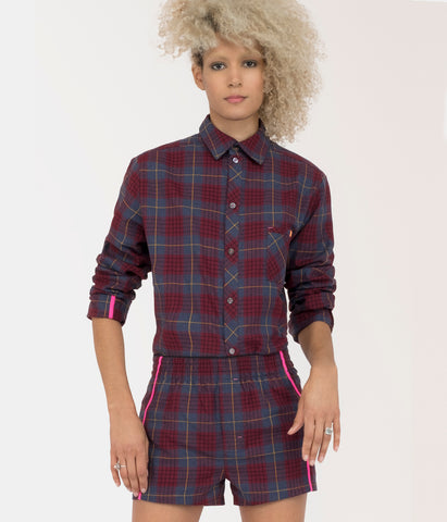 Smart-Shirt C.36 Bordeaux-Black
