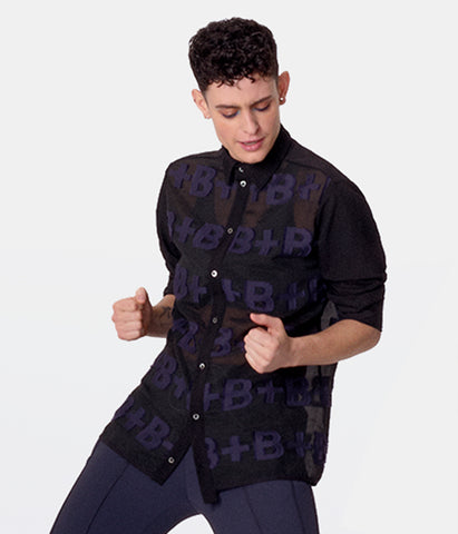 Smart-Shirt D.18+P.20 Black-Indigo+Black