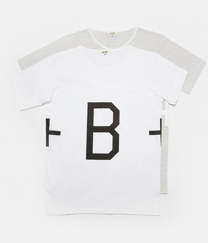 Tee-B+ Ts.4 Grey-White Print