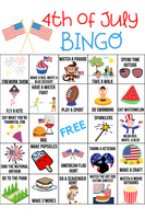 4th of July Activity Bingo