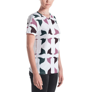Women's V-neck | The 3 SweetCurves Textile - Weshalo World