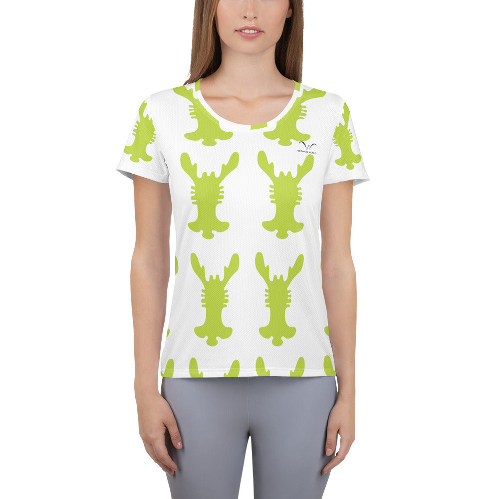 All-Over Print Women's Athletic T-shirt - Weshalo World