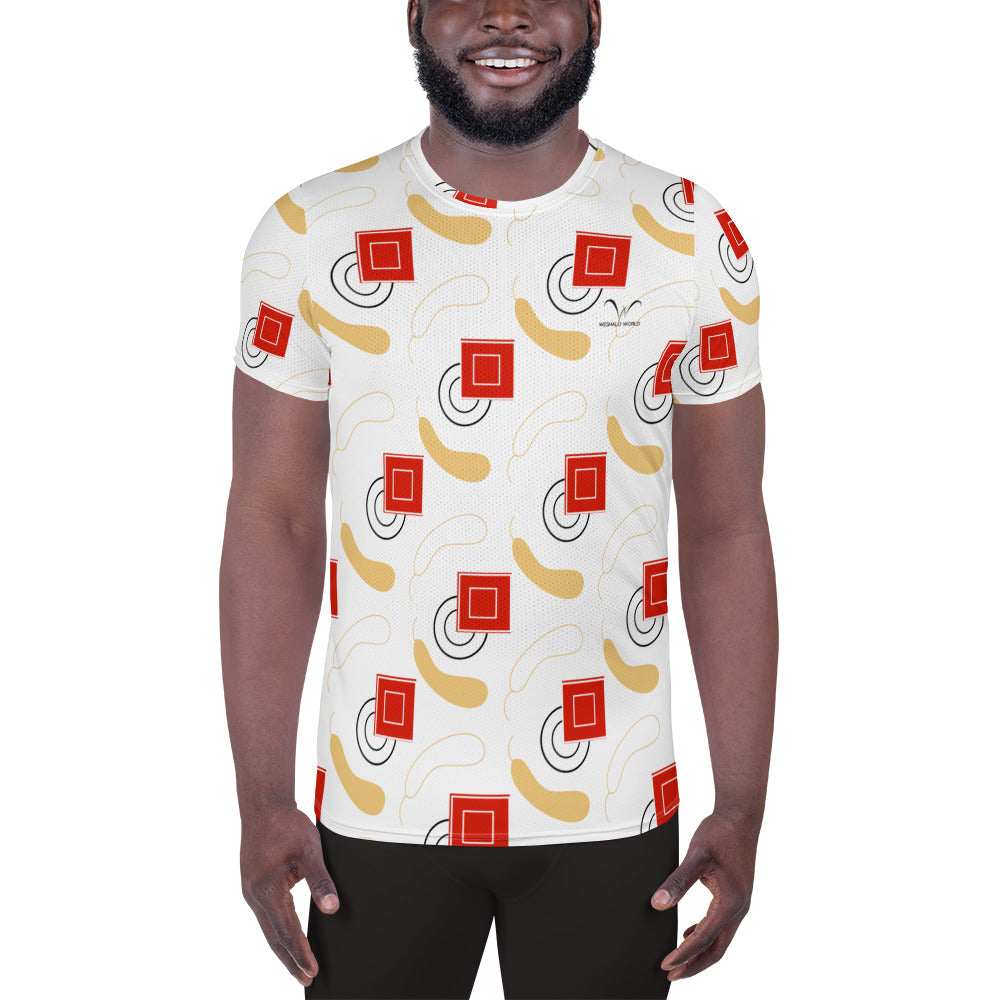 All-Over Print Men's Athletic T-shirt | The Gourd Textile - Weshalo World
