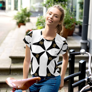 All-Over Print Crop Tee | The 3 Splitter Textile - Weshalo World