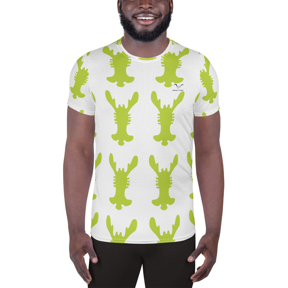 All-Over Print Men's Athletic T-shirt | The Rabbit Ear Textile - Weshalo World