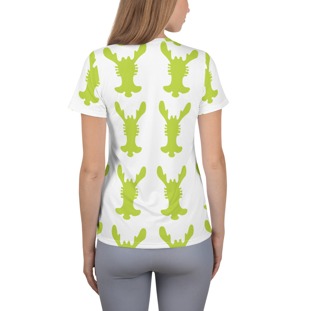 All-Over Print Women's Athletic T-shirt | The Rabbit Ear Textile - Weshalo World