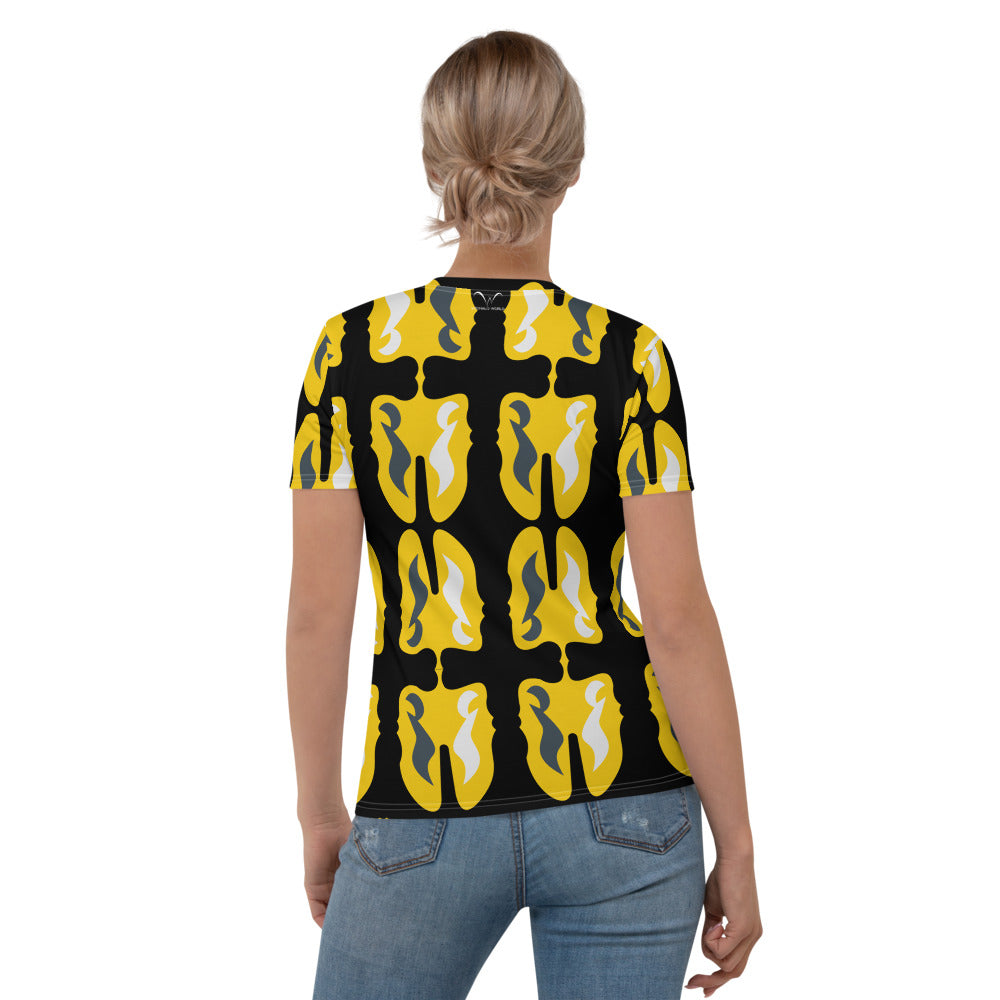 Women's T-shirt | TheMusic Face Note Textile - Weshalo World