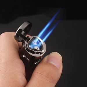 Visible gas Blue Flame Torch Turbo Lighter Spray Gun Electronic Lighter