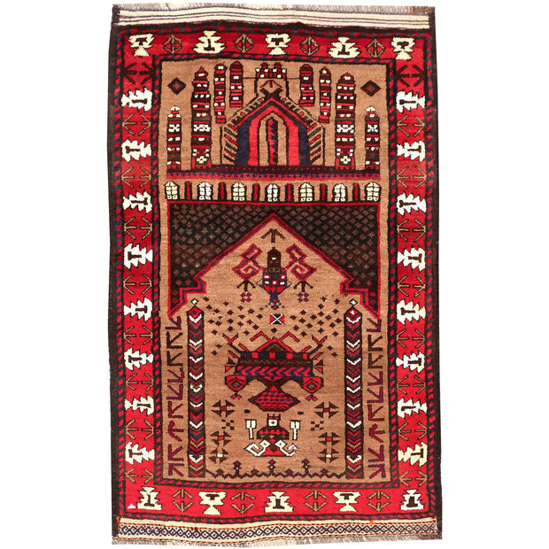 Prayer Rug 2' 6 x 3' 9 (ft) - No. AL86723 - ALRUG Rug Store