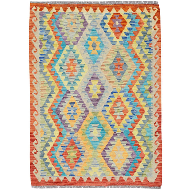"Vegetable Kilim 3' 4""  x 4' 7"" (ft) - No. AL16815 - ALRUG Rug Store"
