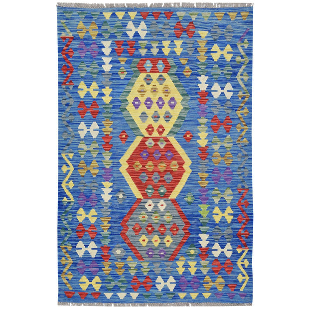 "Vegetable Kilim 3' 1""  x 4' 8"" (ft) - No. AL77373 - ALRUG Rug Store"