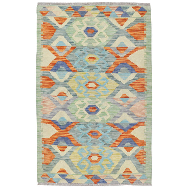 "Vegetable Kilim 3'  x 4' 8"" (ft) - No. AL21175 - ALRUG Rug Store"