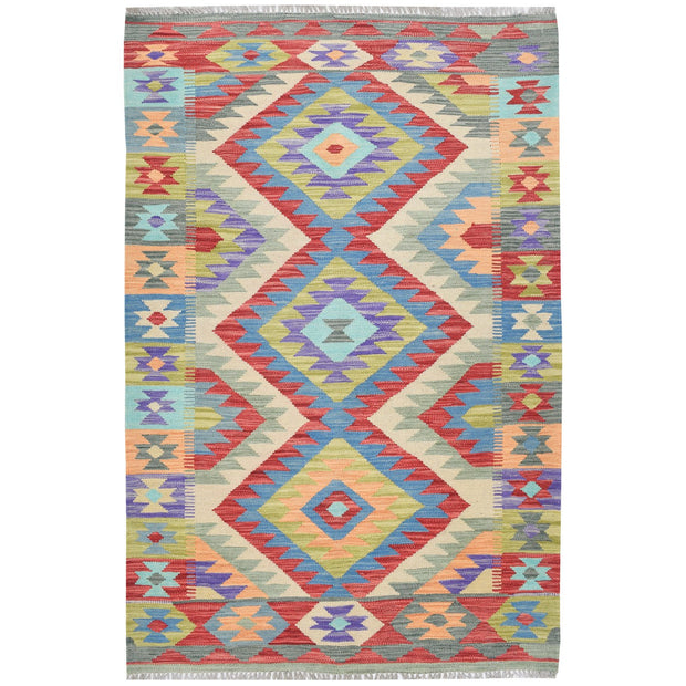 "Vegetable Kilim 3' 3""  x  5' 1"" (ft) - No. AL75694 - ALRUG Rug Store"
