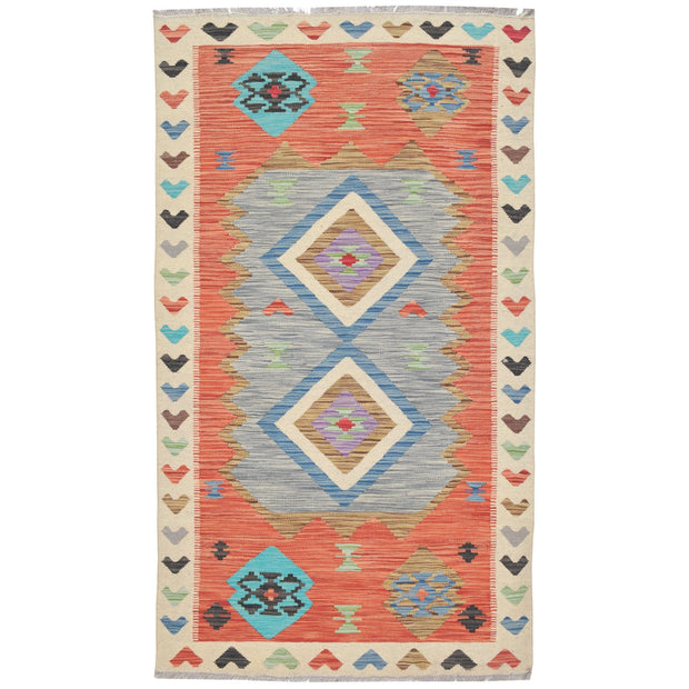"Vegetable Kilim 3' 2""  x  5' 5"" (ft) - No. AL75661 - ALRUG Rug Store"