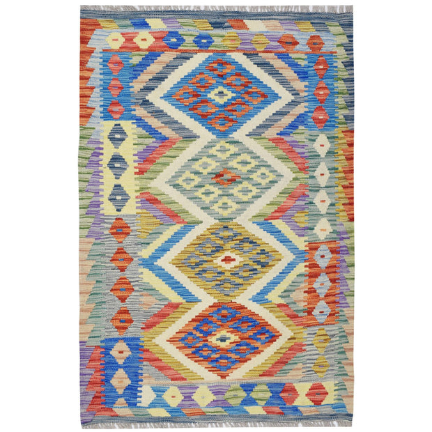 "Vegetable Kilim 3' 2""  x 4' 7"" (ft) - No. AL75286 - ALRUG Rug Store"