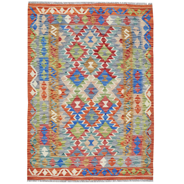 "Vegetable Kilim 3' 5""  x 4' 9""  (ft) - No. AL70950 - ALRUG Rug Store"
