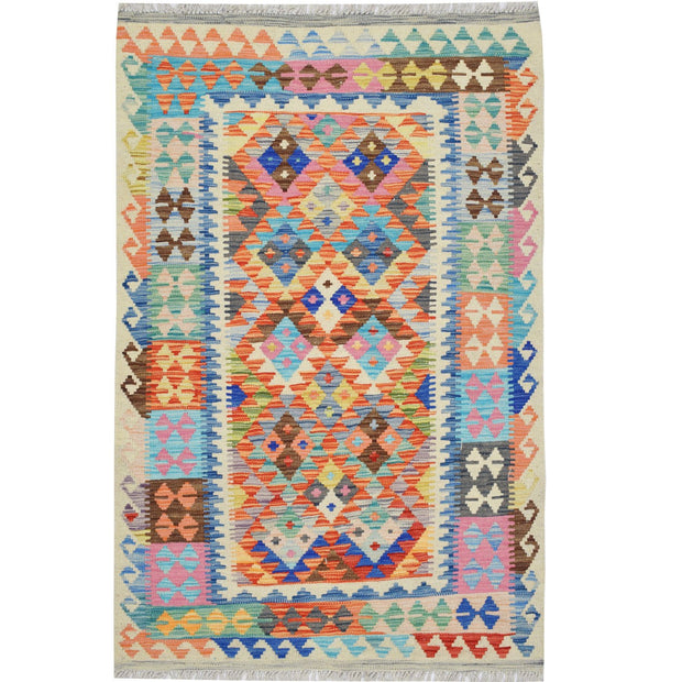 "Vegetable Kilim 3' 2""  x 4' 9""  (ft) - No. AL38523 - ALRUG Rug Store"