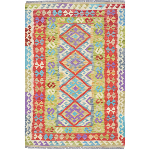 "Vegetable Kilim 3' 5""  x 5' 1""  (ft) - No. AL56696 - ALRUG Rug Store"