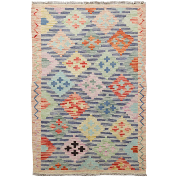 "Vegetable Kilim 3' 3""  x 4' 9""  (ft) - No. AL26977 - ALRUG Rug Store"