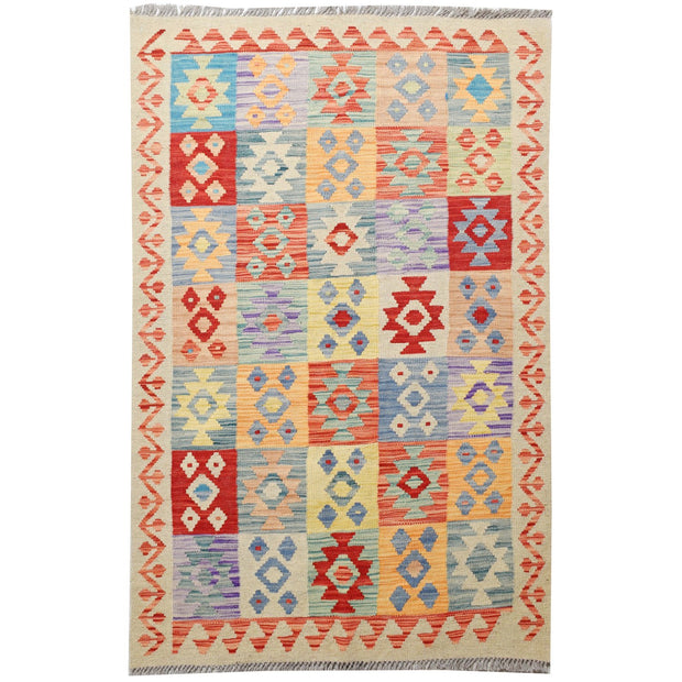 "Vegetable Kilim 3' 2""  x  4' 6""  (ft) - No. AL59750 - ALRUG Rug Store"