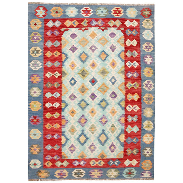 "Vegetable Kilim 5' 7""  x 8' (ft) - No. AL52915 - ALRUG Rug Store"