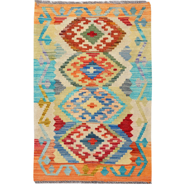 "Vegetable Kilim 1' 9""  x 3' (ft) - No. AL96248 - ALRUG Rug Store"