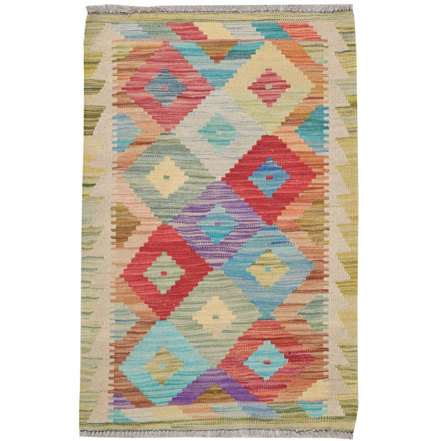 "Vegetable Kilim 2' x 2' 9"" (ft) - No. AL10467 - ALRUG Rug Store"