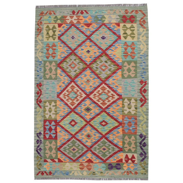 Vegetable Kilim 3' 4 x  4' 8 (ft) - No. AL41091 - ALRUG Rug Store