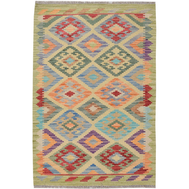 "Vegetable Kilim 2' 6""  x 3' 8""  (ft) - No. AL27834 - ALRUG Rug Store"