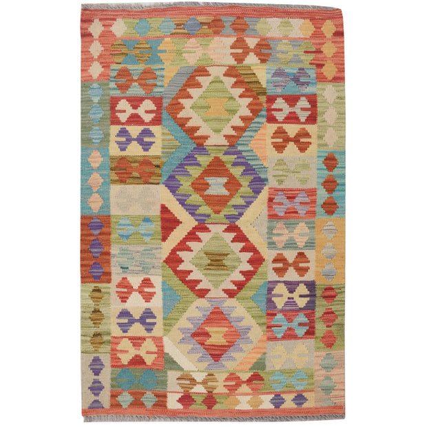 "Vegetable Kilim 2' 6""  x 4' 1""  (ft) - No. AL94935 - ALRUG Rug Store"