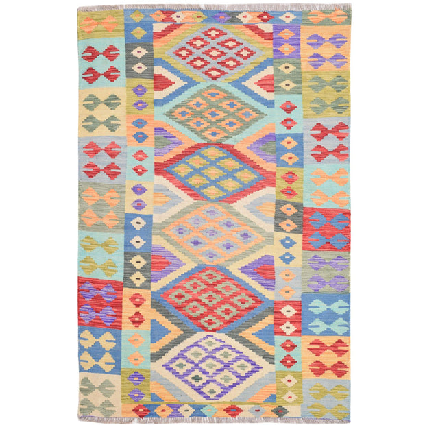Vegetable Kilim 4' 1 x 6' 1 (ft) - No. AL72691 - ALRUG Rug Store