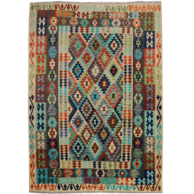 Vegetable Kilim 5' 7 x 7' 9 (ft) - No. AL55837 - ALRUG Rug Store