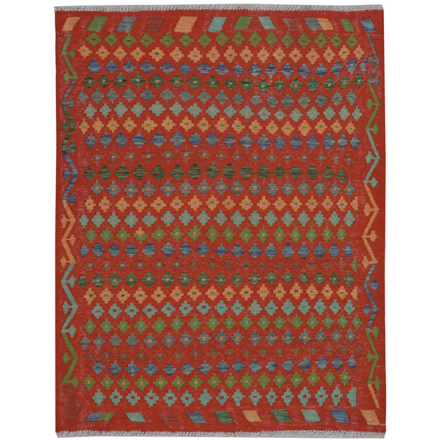 Vegetable Kilim 4' 1 x 4' 9 (ft) - No. AL35941 - ALRUG Rug Store