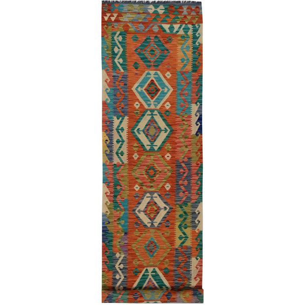 Vegetable Kilim 2' 7 x 12' 7 (ft) - No. AL31692 - ALRUG Rug Store