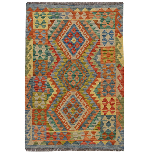Vegetable Kilim 3' 1 x  4' 7 (ft) - No. AL24803 - ALRUG Rug Store