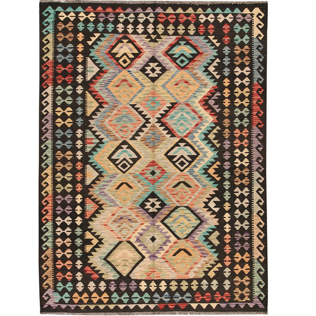 Vegetable Kilim 5' 6 x 7' 5 (ft) - No. AL66242 - ALRUG Rug Store