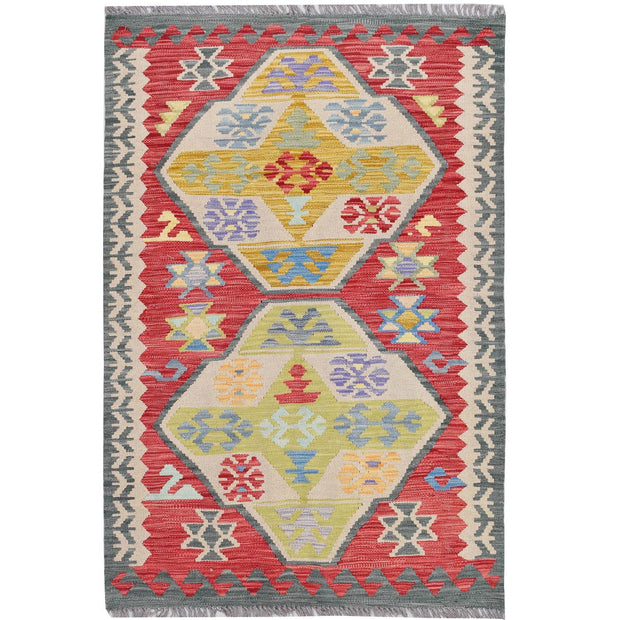 Vegetable Kilim 3' 1 x 4' 7 (ft) - No. AL90417 - ALRUG Rug Store