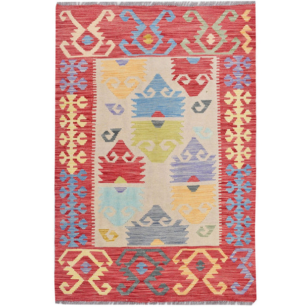 Vegetable Kilim 3' 2 x 4' 8 (ft) - No. AL73000 - ALRUG Rug Store