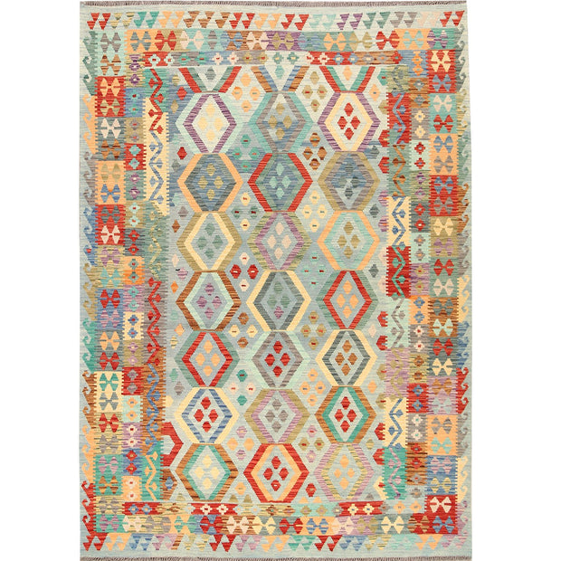 Vegetable Kilim 6' 6 x 9' 4 (ft) - No. AL91045 - ALRUG Rug Store
