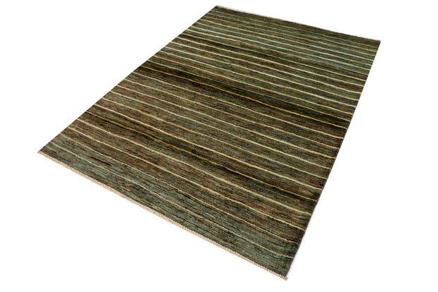 Dark Sea Green Gabbeh 4' 7 x 6' 3 - No. 33938 - ALRUG Rug Store