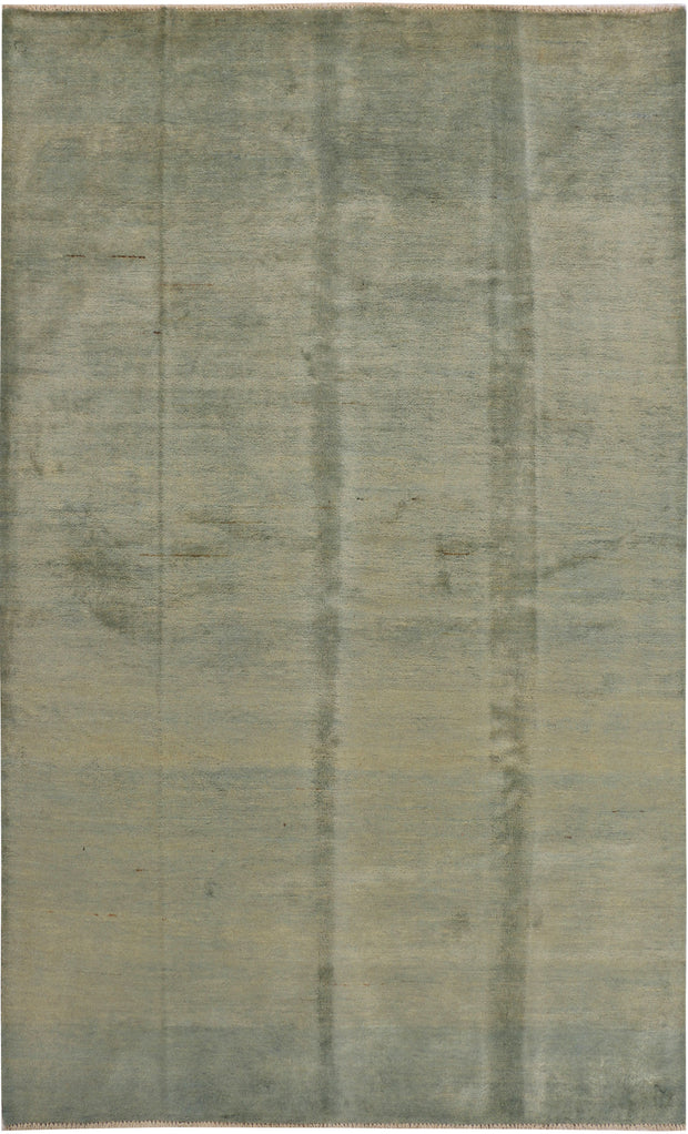 Dark Sea Green Gabbeh 5' 8 x 8' 2 - No. 34181 - Alrug Rug Store