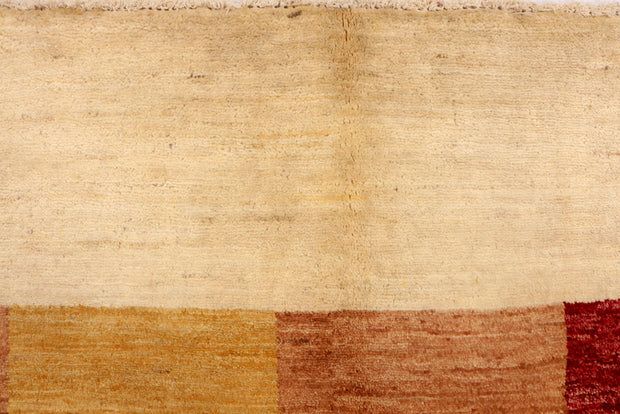 Blanched Almond Gabbeh 6' 9 x 6' 4 - No. 34234 - Alrug Rug Store