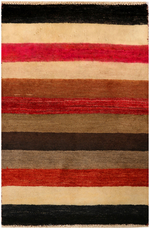 Multi Colored Gabbeh 2' x 3' - No. 34287 - ALRUG Rug Store