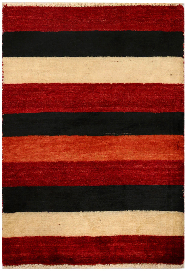 Multi Colored Gabbeh 2' 1 x 3' - No. 34292 - Alrug Rug Store
