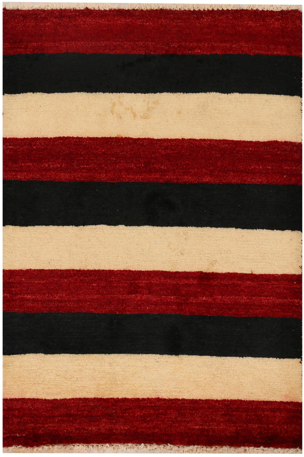 Multi Colored Gabbeh 2' 1 x 3' - No. 34309 - ALRUG Rug Store