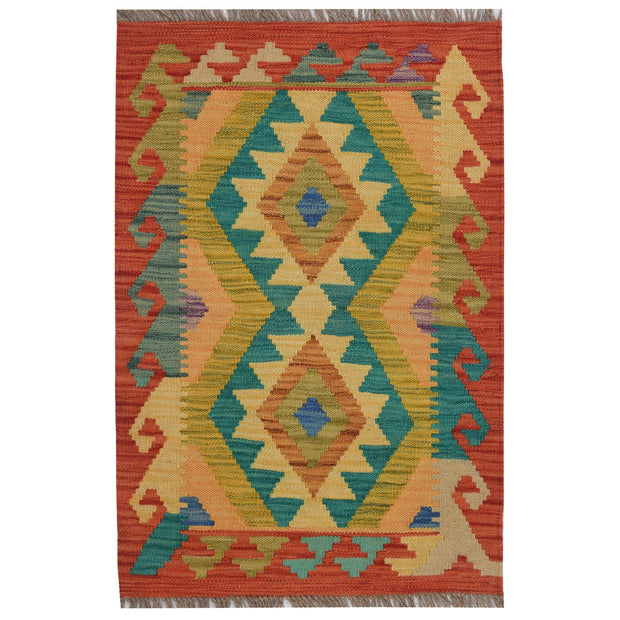 Vegetable Kilim 1' 9 x 2' 9 (ft) - No. AL20633 - ALRUG Rug Store